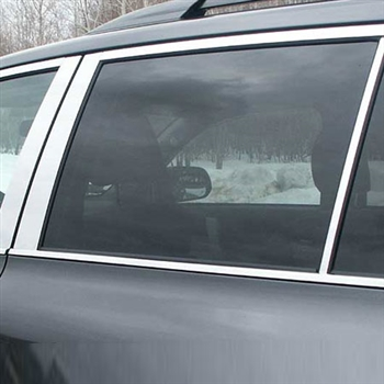 Toyota Highlander Chrome Pillar Post Trim, 6pc. Set, 2008, 2009, 2010, 2011, 2012, 2013