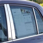 Nissan Versa Chrome Pillar Post Trim, 6pc. Set, 2007, 2008, 2009, 2010, 2011