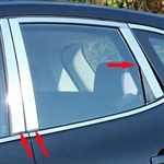 Nissan Rogue Chrome Pillar Post Trim, 2008, 2009, 2010, 2011, 2012, 2013