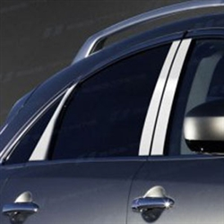 Infiniti FX Chrome Pillar Post Trim, 2009, 2010, 2011, 2012, 2013