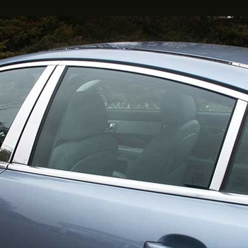 Jaguar XF Chrome Pillar Post Trim, 2009, 2010, 2011, 2012, 2013, 2014, 2015