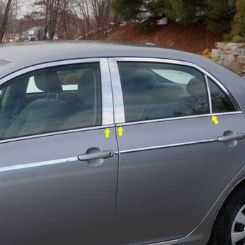Toyota Corolla Chrome Pillar Post Trim, 2009, 2010, 2011, 2012, 2013