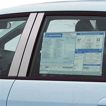 Honda Fit Chrome Pillar Post Trim, 8pc  2009 - 2013