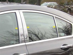 Acura TL Chrome Pillar Post Trim, 6 piece set, 2009, 2010, 2011, 2012, 2013, 2014