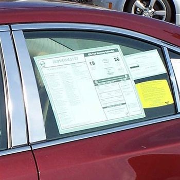 Nissan Maxima Chrome Pillar Post Trim, 6pc. Set, 2009, 2010, 2011, 2012, 2013, 2014