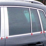 Volkswagen Tiguan Chrome Pillar Post Trim, 2010, 2011, 2012, 2013, 2014, 2015