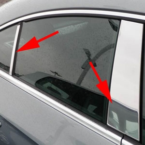 Volkswagen CC Chrome Pillar Post Trim, 2010, 2011, 2012, 2013, 2014