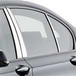 BMW 7-Series Chrome Pillar Post Trim, 2009, 2010, 2011, 2012, 2013, 2014, 2015