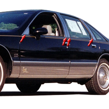 1991-1997 Chevrolet Caprice Pillar Post Trim (8pc)