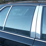 Ford Crown Victoria Chrome Pillar Post Trim, 6pc. Set, 1992 - 2010