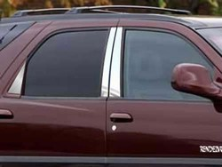 Buick Rendezvous Chrome Pillar Trim, 6pc  2002-2008