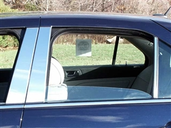 Cadillac STS Chrome Pillar Post Trim, 6pc. Set, 2005, 2006, 2007, 2008, 2009, 2010, 2011