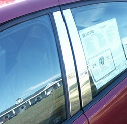 Saturn Ion Chrome Pillar Post Trim, 4pc 2006 - 2007