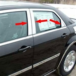 Chrysler 300 Chrome Pillar Post Trim, 2005, 2006, 2007, 2008, 2009, 2010