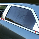 Dodge Magnum Chrome Pillar Post Trim, 2005, 2006, 2007, 2008