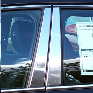 Chevrolet Impala Chrome Pillar Post Trim, 4pc. Set, 2006, 2007, 2008, 2009, 2010, 2011, 2012, 2013