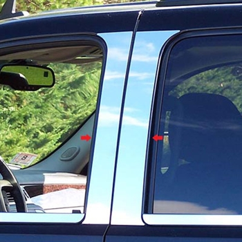 GMC Yukon Chrome Pillar Post Trim, 2007, 2008, 2009, 2010, 2011, 2012, 2013, 2014
