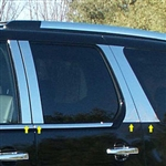 Cadillac Escalade Chrome Pillar Post Trim, 8pc. Set, 2007, 2008, 2009, 2010, 2011, 2012, 2013, 2014