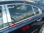 2007 Saturn Aura Stainless Steel Pillar Post Set
