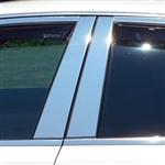 Cadillac CTS Chrome Pillar Post Trim, 4 pc. Set, 2008, 2009, 2010, 2011, 2012, 2013