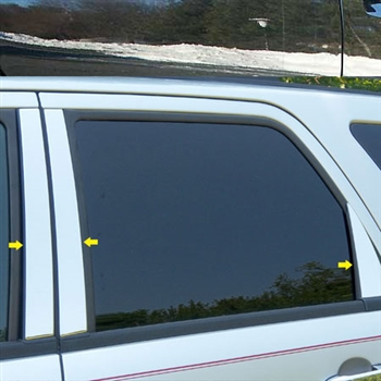 Ford Escape Chrome Pillar Post Trim, 6pc. Set, 2008, 2009, 2010, 2011, 2012