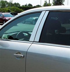 Saturn Vue Stainless Steel Pillar Post Trim - 4pc