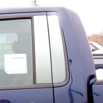 Ford F150 Regular Cab Chrome Pillar Post Trim, 2009, 2010, 2011, 2012, 2013, 2014