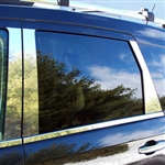 Dodge Journey Chrome Pillar Post Trim, 2009, 2010, 2011, 2012, 2013, 2014, 2015, 2016, 2017, 2018