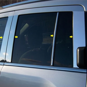 Jeep Compass Chrome Pillar Post Trim, 2011, 2012, 2013, 2014, 2015, 2016, 2017