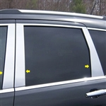 Jeep Grand Cherokee Chrome Pillar Post Trim, 2011, 2012, 2013, 2014, 2015, 2016, 2017