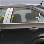 Chevrolet Sonic Chrome Pillar Post Trim, 2012, 2013, 2014, 2015, 2016, 2017, 2018