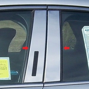 Ford Fusion Chrome Pillar Post Trim, 2013, 2014, 2015, 2016, 2017
