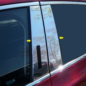 Lincoln MKZ Chrome Pillar Post Trim, 2013, 2014, 2015, 2016, 2017, 2018