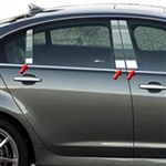 Chevrolet SS Chrome Pillar Post Trim, 2014, 2015