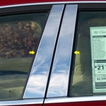 Cadillac CTS Sedan Chrome Pillar Post Trim, 2014, 2015, 2016, 2017