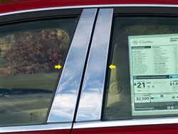 Cadillac CTS Sedan Chrome Pillar Post Trim, 4pc long, 2014, 2015, 2016, 2017