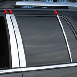 Lincoln Navigator Chrome Pillar Post Trim, 2015, 2016, 2017