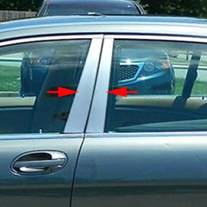 BMW 7-Series Chrome Pillar Post Trim, 1988, 1989, 1990, 1991, 1992, 1993, 1994
