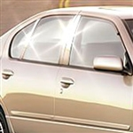 Infiniti G20 Chrome Pillar Post Trim, 1996, 1997, 1998, 1999, 2000