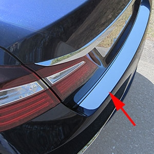 Honda Accord Sedan Chrome Rear Bumper Trim, 2016, 2017