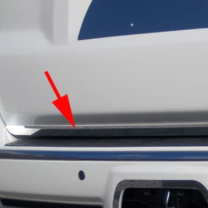 Toyota 4Runner Chrome Tailgate Deck Trim, 2010, 2011, 2012, 2013, 2014, 2015, 2016, 2017