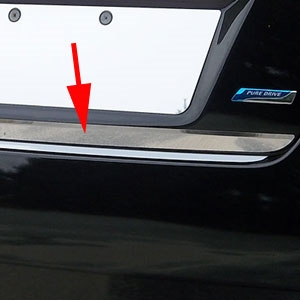 Nissan Altima Sedan Chrome Rear Deck Trim, 2013, 2014