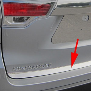 Toyota Highlander Chrome Tailgate Trim, 2014, 2015, 2016