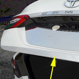 Toyota Camry Chrome Rear Trunk Trim, 2018, 2019