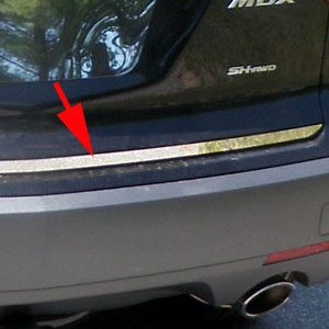 Acura MDX Chrome Tailgate Trim, 2007, 2008, 2009, 2010, 2011, 2012, 2013