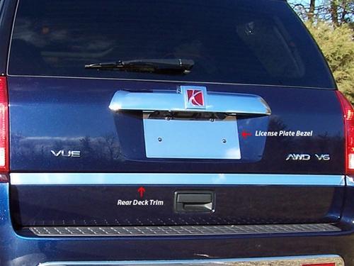Saturn Vue Chrome Rear Deck Trunk Trim 2003 2007