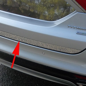 Ford Fusion Chrome Rear Deck Trunk Trim, 2013, 2014, 2015, 2016, 2017