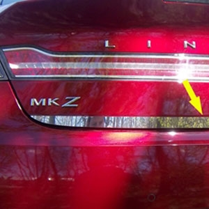 Lincoln MKZ Chrome Trunk Lid Trim, 2013, 2014, 2015, 2016
