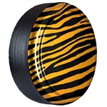 Jeep Wrangler Color Matched with Zebra Print Hard-Rigid Tire Cover for 2007-2017
