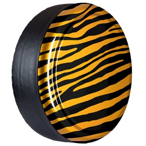 Jeep Wrangler Color Matched with Zebra Print Hard-Rigid Tire Cover for 2007-2016